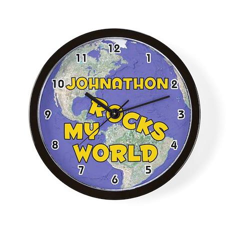 Johnathon Rocks My World (Gold) Wall Clock