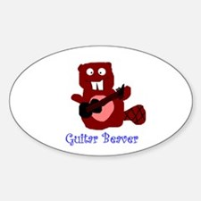 guitar beaver Oval Decal