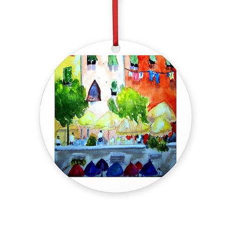 """Street Cafe"" Ornament (Round)"
