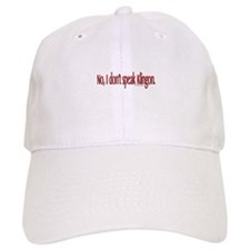 Don't Speak Klingon Conventio Baseball Cap