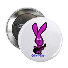 "guitar bunny 2.25"" Button (100 pack)"