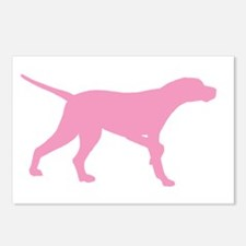 Pink Pointer Dog Postcards (Package of 8)