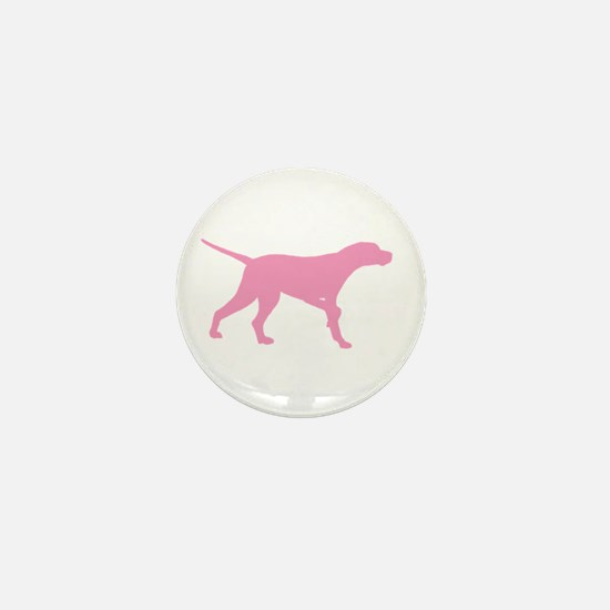 Pink Pointer Dog Mini Button