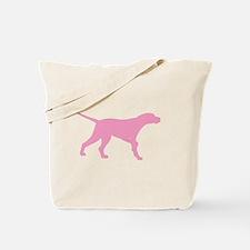 Pink Pointer Dog Tote Bag
