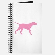 Pink Pointer Dog Journal