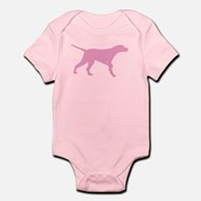 Pink Pointer Dog Infant Bodysuit