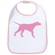 Pink Pointer Dog Bib