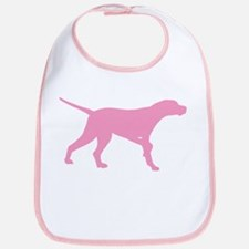 Pink Pointer Dog Bib