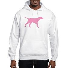 Pink Pointer Dog Hoodie
