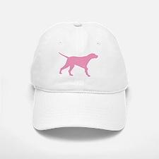 Pink Pointer Dog Baseball Baseball Cap