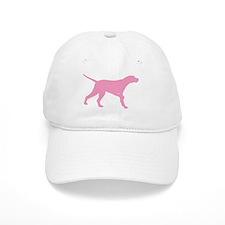 Pink Pointer Dog Baseball Cap