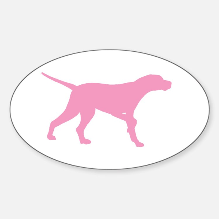 Pink Pointer Dog Decal