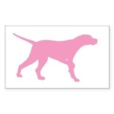 Pink Pointer Dog Rectangle Decal