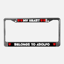 My Heart: Adolfo (#001) License Plate Frame