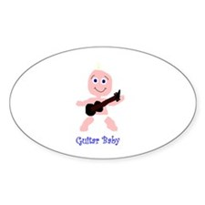 guitar baby Oval Decal