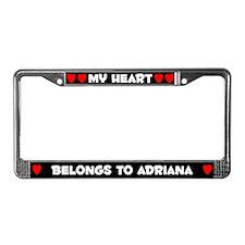 My Heart: Adriana (#001) License Plate Frame