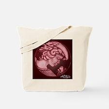 Lillian cameo burgundy Tote Bag