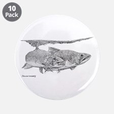 """Brook Trout 3.5"""" Button (10 pack)"""