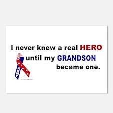 Never Knew A Hero.....Grandson (ARMY) Postcards (P