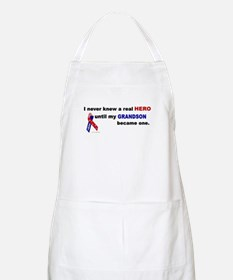 Never Knew A Hero.....Grandson (ARMY) BBQ Apron