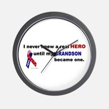 Never Knew A Hero.....Grandson (ARMY) Wall Clock