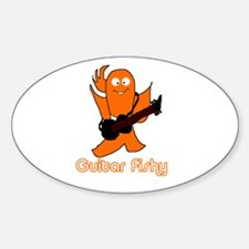 guitar fishy Oval Decal