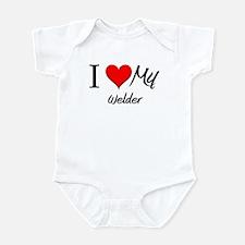 I Heart My Welder Infant Bodysuit