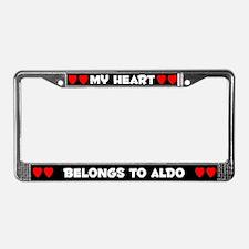 My Heart: Aldo (#001) License Plate Frame