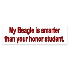 Beagle is Smarter Bumper Bumper Sticker
