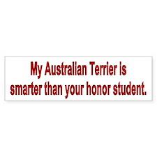 Australian Terrier is Smarter Bumper Bumper Sticker