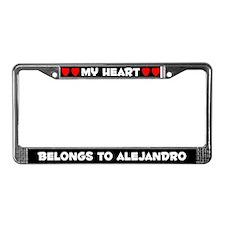 My Heart: Alejandro (#001) License Plate Frame