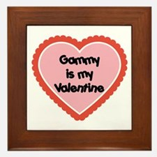 Gammy is My Valentine Framed Tile
