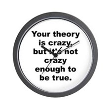 Niels bohr quote Wall Clock