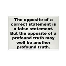 Niels bohr quote Rectangle Magnet