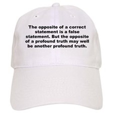 Niels bohr quote Baseball Cap