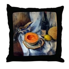 Blue Willow & Cantaloupe Still Life Throw Pillow