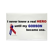 Never Knew A Hero.....Godson (ARMY) Rectangle Magn