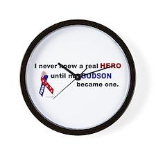 Never Knew A Hero.....Godson (ARMY) Wall Clock