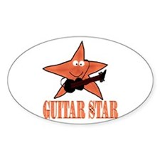 guitar star Oval Decal