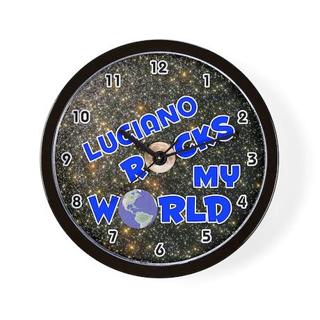 Luciano Rocks My World (Blue) Wall Clock