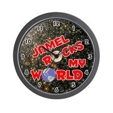 Jamel Rocks My World (Red) Wall Clock