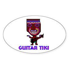 guitar tiki Oval Decal