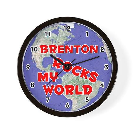 Brenton Rocks My World (Red) Wall Clock