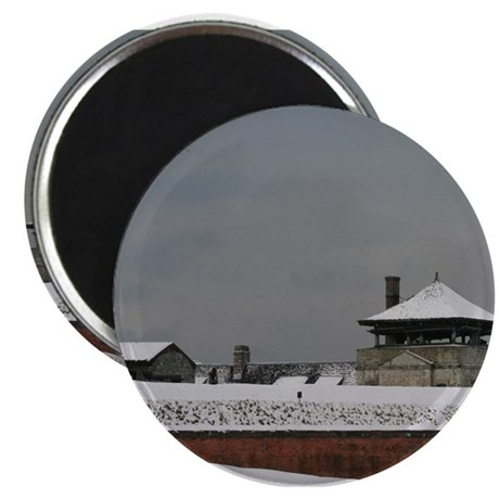 Old Fort Niagara Guardhouse in Winter Magnet
