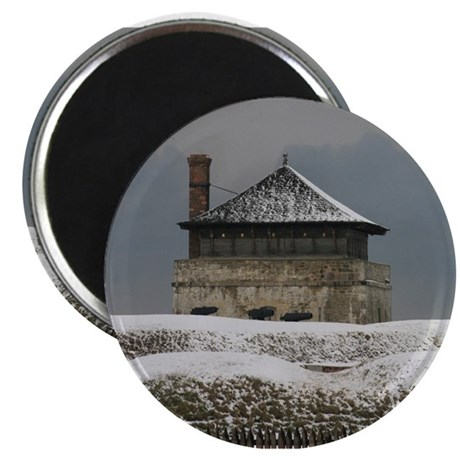 Old Ft Niagara Guardhouse Winter Photograph Magnet