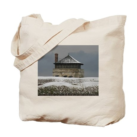 Old Ft Niagara Guardhouse Winter Photograph Tote B