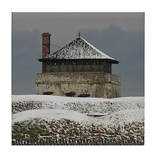 Old Ft Niagara Guardhouse Winter Photograph Tile C