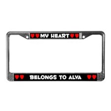 My Heart: Alva (#001) License Plate Frame