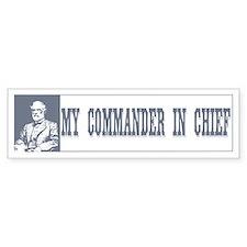 Commander in Chief Bumper Car Sticker