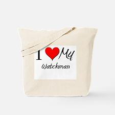I Heart My Watchman Tote Bag